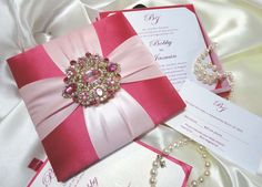 Silk Invitation Box
