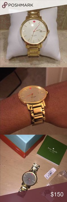 Kate Spade Gramercy Gold Watch In great condition, barely worn. Bought from another posher but I got another watch instead for a gift! Looks new! kate spade Accessories Watches