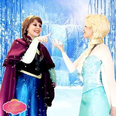 Anna & Elsa - Frozen - Personagem Vivo
