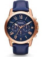 Montre Homme Fossil Grant FS4835 Bracelet et cadran bleus//i'm in love