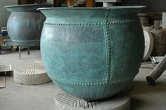 Your source for antique stone troughs, unique coppers, custom water features and millstones of all sizes up to four feet in diameter Copper Planters, Pot Plante, Citrus Trees, Vaulting, Antique Copper, Water Features, Kettle, Throw Pillows, Stone