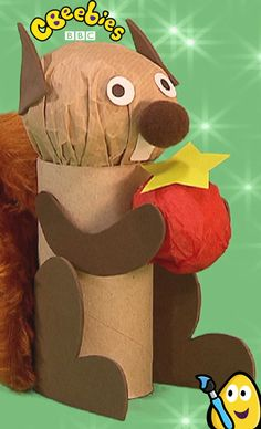 Mister Maker is full of craft ideas for kids. Here he shows us how to make a really cute squirrel!