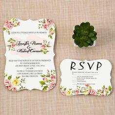 Affordable Chic Bracket Shaped Fl Spring Wedding Invitation Cards Ewib342 As Low 1 14 Budget