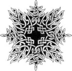 Intricate Celtic knot,almost looks like a snowflake