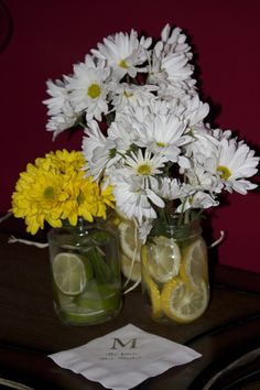 Daisies with the fruit look great fro spring brunch shower