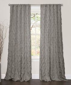 Loving this Gray Lake Como Curtain Panel on #zulily! #zulilyfinds