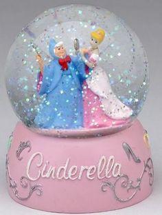 Disney Cinderella Pink Snowglobe
