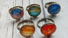 Planet Ring Celestial Jewelry Space Jewelry Lunar Ring