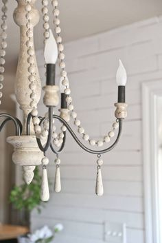 Ideas Farmhouse Chandelier Iron Chandeliers Rustic For 2019 Dining Chandelier, Farmhouse Chandelier, Beaded Chandelier, Rustic Chandelier, Farmhouse Lighting, Dining Room Lighting, Rustic Farmhouse, Brass Chandelier Makeover, French Country Lighting