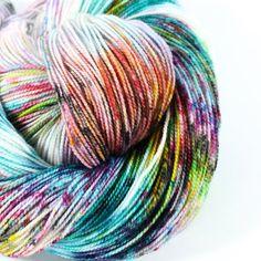 Made to order - Hand Dyed Sock Yarn - SW Sock 80/20 - Superwash Merino Nylon - 400 yards -  Graffiti
