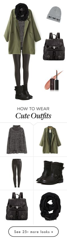 """""""Cute Autumn Outfit"""" by shortbrunette on Polyvore featuring VILA, H&M, Proenza Schouler, Local Heroes, Old Navy and Vincent Longo"""