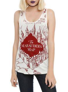 Harry Potter Marauder's Map Girls Tank Top