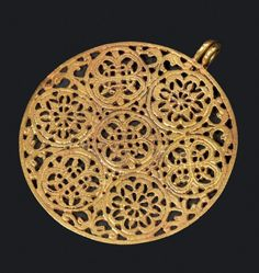 BYZANTINE PENDANT - 6th and 7th Centuries. Gold | Ancient collection Y. Saidnian, London & Jerusalem.