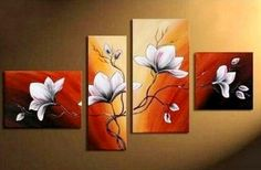 Living Room Wall Decor Contemporary Art Art on Canvas Flower Painting Extra Large Painting Canvas Wall Art Abstract Painting Hand Painting Art, Large Painting, Oil Painting On Canvas, Canvas Paintings, Hand Painted Walls, Art Deco Home, Extra Large Wall Art, Panel Art, Cool Paintings