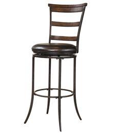 Hillsdale Furniture - Cameron Ladderback Swivel Counter Stool