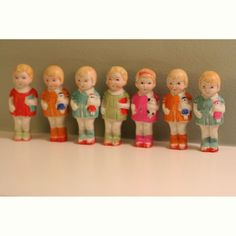 Perfect Bisque Penny Dolls from Japan by Mightygoods on Etsy