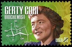 Biochemist Gerty Cori, woman and American woman to win a Nobel Prize in science, was born today in Commemorative Stamps, Office Pictures, Medical Careers, Nobel Prize Winners, Jewish History, First Day Covers, Science, Biochemistry, Secondary School
