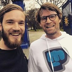 Pewds and his dad