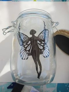 I just noticed that the printouts are no longer available at the site I originally suggested to you. I see different versions of these fairy jars all over the i… Mason Jar Crafts, Mason Jars, Fairy Templates, Wooden Kitchen Signs, Headboard Art, Light Up Canvas, Coffee Filter Crafts, Old Mirrors, Outdoor Games For Kids