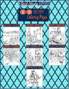 Ancient Civilizations Unit - 20 Free History Based Coloring Pages