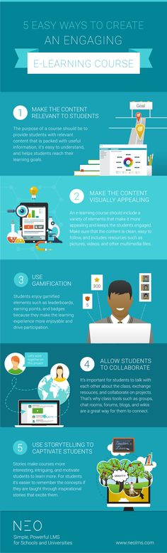 5 Easy Ways to Create an Engaging eLearning Course Infographic - http://elearninginfographics.com/5-easy-ways-create-engaging-elearning-course-infographic/
