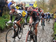 Eisel seen here smashing up the Koppenberg in 2008