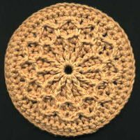 Up Cycle your old CDs make Coasters or Trivets - free crochet pattern