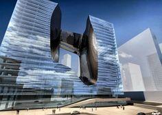 Zaha Hadid diseña el nuevo edificio Opus para oficinas y hotel en Dubai http://www.arquitexs.com/2013/10/zaha-hadid-edificio-opus-oficinas-y.html