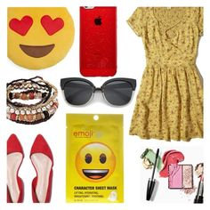 """Emoji Style"" by dreamingdaisy ❤ liked on Polyvore featuring Throwboy, Hollister Co. and Forever 21"