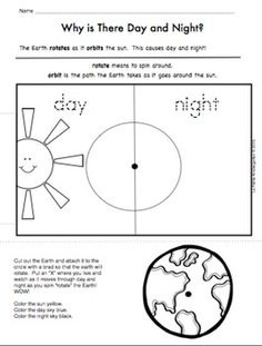 "Are you studying ""Day and Night""?  Here is the perfect activity to help your kids understand how day and night happen.  This product has been updated on November 12, 2015.It is now 11 pages of activities for your students to do as they learn about Day and Night.In this packet you will get:activity page to show your students how day and night happen.sorting picture cards to do with your class on a Venn Diagram.sorting pages for your students to do on their own.Drawing page to show what you…"