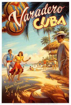 cuban art posters | ... Poster, Vintage Travel Posters, Art, Prints, varadero cuba.jpg