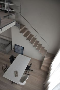 This is also true for that basement stairs. Spiral Stairs Design, Home Stairs Design, Interior Stairs, Interior Design Living Room, Loft Staircase, House Stairs, Minimalist Interior, Minimalist Home, Mini Loft