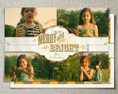 Western Christmas photo card // Country holiday by peartreespace, $16.00