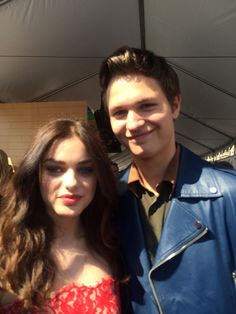 #TheGiver's Odeya Rush with #TFIOS' Ansel Elgort at the FOX Teen Choice Awards!
