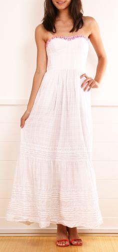 Rebecca Taylor white embroidered dress