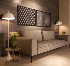 Quadros geométricos são perfeitos para compor a decoração. Foto: Sis Decor