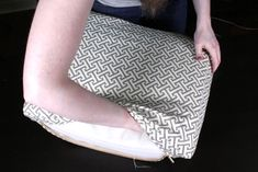 How to Make Box Cushions with a Zipper | OFS Maker's Mill Custom Cushion Covers, Diy Cushion, Cute Cushions, Patio Cushions, Cool Woodworking Projects, Diy Sewing Projects, Sleeper Sofas, Sectional Sofas, Leather Sectional