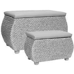Hartleys Twin #storage Trunk/stool Bedding/blanket #rattan #wicker Box/