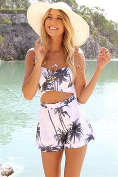Palm Tree Playsuit | SABO SKIRT