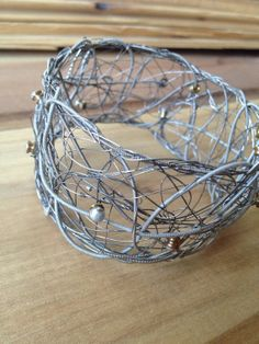 Nickel Guitar String Bangle by erinepearson on Etsy, $150.00