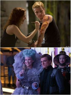 Since these scenes weren't in the movie, they better in the deleted scenes of the Catching Fire DVD.