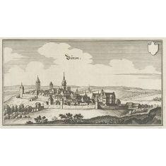 Kupferstich Merian, Büren, Nordrhein-Westfalen, Stich, Fototapete Merian