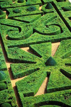 Amazing Topiary Garden at Chateau de Hautefort #landscaping