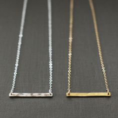 Bar Necklace , I need! Gold Bar Earrings, Silver Bar Necklace, Sterling Silver Chains, Sterling Silver Pendants, Necklace Extender, Silver Bars, Jewelry Collection, Jewellery Box, Jewlery