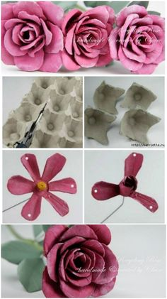 Painting For Kids, Diy Painting, Toilet Paper Roll Crafts, Paper Crafts, Christmas Crafts For Adults, Egg Carton Crafts, Baby Crafts, Diy Flowers, Flower Arrangements