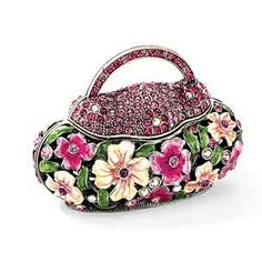 Floral handbag trinket box