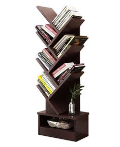 The tree shaped Bookcase comes with couples of triangle branch with a mutil display unit. It can be placed in the corner and confirms to Geometry Desi added onto home furniture. Book Case, Book rack via