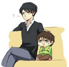 ~ Snk ~ :: Levi and Little Eren