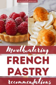 Mouthwatering French pastry recommendations Desserts Menu, French Desserts, Chantilly Cream, Fruit Tart, Mixed Fruit, New Cookbooks, Almond Cakes, Fruit In Season, French Pastries