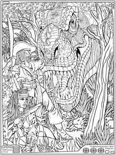 MONSTER MASH-UP--Dinosaurs Face Destruction Dover Publications